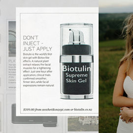 Biotulin Supreme Skin Gel in Viva, NZ Herald